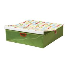 €7,95 KUSINER  Sängynaluslaatikko, vihreä    Leveys: 58 cm  Syvyys: 58 cm  Korkeus: 16 cm