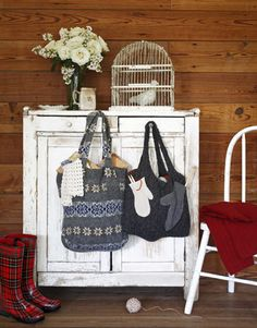 Recycled Craft Ideas - make totes out of shrunken or stretched out beloved sweaters! I love it! I hate when I can no longer wear my favorite sweaters!
