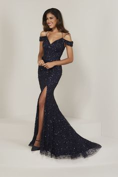 362222d7c4b13f Tiffany Designs 16335 is an off the shoulder fitted prom gown with a  Sweetheart neckline