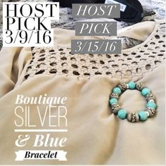 """✨2x HP✨Boutique Blue & Silver Bracelet Gorgeous blue and silver bracelet. Never been worn and in perfect condition.✨always a free gift with purchase☺️❤️✨ Host Pick of """"It Girl"""" party on 3/9/16 & """"Best of Jewelry & Accessories"""" party on 3/15/16✨ Nordstrom Jewelry Bracelets"""