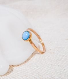 Gold and Turquoise Ring // Solid 14k Gold by TarnishedAndTrueGOLD
