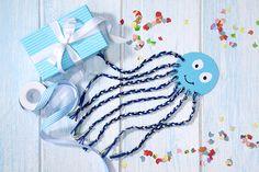 Bastelidee für den Unterwasserwelt Geburtstag.   Umsetzung und Foto: Thordis Rüggeberg