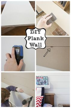 DIY Plank Wall How To tutorial at The Happy Housie