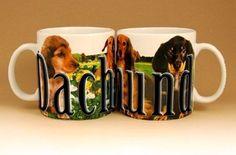 One New My Pet Mug Best Friend Series, Dachshund Raised Lettering 18 oz. Mug