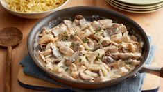 Use chicken for a lighter take on classic stroganoff that goes from stovetop to table in just 30 minutes. We love it over egg noodles, rice or whatever you have on hand.