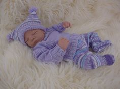 Baby Knitting Pattern - Download PDF Knitting Pattern - Sweater Set - Girls or Boys - Homecoming Outfit - Reborn Dolls 0-6 Months