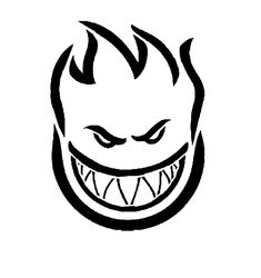 Free Skateboard Coloring Pages Spitfire Skull Flame Logo