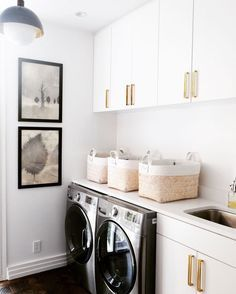 Baskets for laundry room