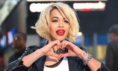 Rita Ora bobbed hair