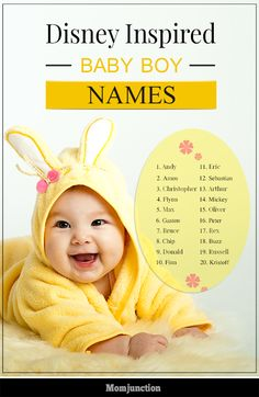 20 Cute Disney Inspired Baby Boy Names
