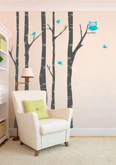 Add something whimsical to your walls with these decals from @livingsocial