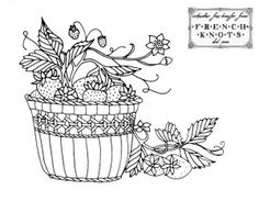 Fantastic Fruit Baskets Embroidery Transfer Patterns