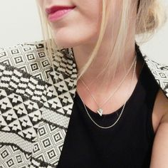 JQ Vancouver Silver Triangle Necklace |
