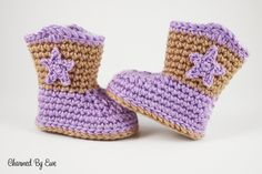 Sweet Lil' Baby Cowboy Boots: FREE crochet pattern
