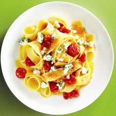 Delicious pasta recipe! I love cooking with goat cheese!