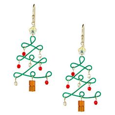 Trim the Tree Earrings | Fusion Beads Inspiration Gallery