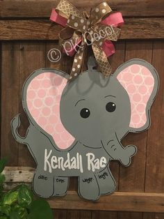 This item is unavailable – Door hanger Hospital Door Baby, Hospital Door Hangers, Baby Door Hangers, Baby Shower Wall Decor, Elephant Birth, Welcome Signs Front Door, Bow Hanger, Baby Crafts, Foam Crafts