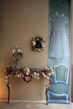 A vintage dress for a girl's room
