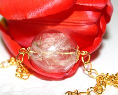 Dandelion Seed Necklace Wish Necklace Real от SweetyLifeShop, $14.90
