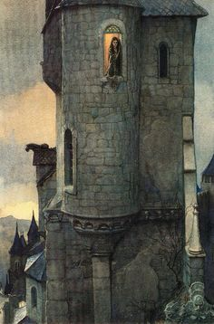 chanson de geste — assemblyfairytale: Castles (by Alan Lee and. Alan Lee, Fantasy World, Fantasy Art, Alchemy Art, Fairytale Art, Children's Book Illustration, Oeuvre D'art, Art History, Illustrators