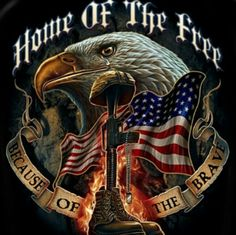Home of Free Because of Brave - Military T-Shirt Erazor Bits Patriotic T-Shirt Home Of The Free Large Black American Pride, American Flag, American Freedom, American Soldiers, American History, Native American, Harley Davidson, Military Veterans, Military Life