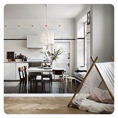   T e n t   @elledecorationse #tent #kitchen #livingroom #etage #beautiful #herringbone #floor #interiordesign #inredning #homedesign #instagood #inspiration #elledecoration