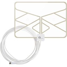 1byone Window Antenna 35 Miles Super Thin HDTV Antenna with 20ft Coaxial Cable, Extreme Soft Design and Lightweight