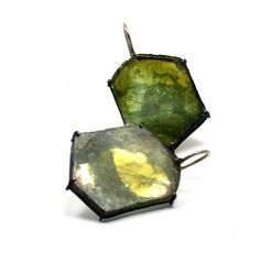 Bettina Speckner - Earrings, gold, tourmaline