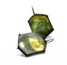 Bettina Speckner - Earrings, gold, tourmaline   Sienna Gallery Sienna Gallery