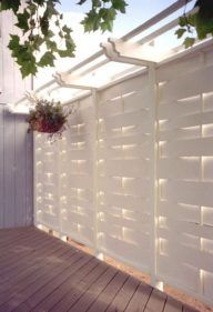 White privacy fence for compliment (50)