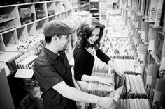 Record store engagement pics