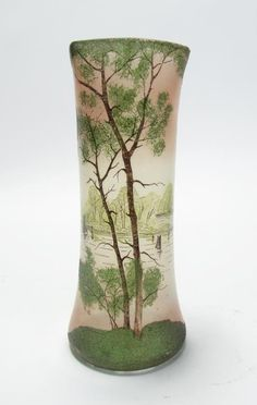LeGras Type Cameo Glass Vase : Lot 701