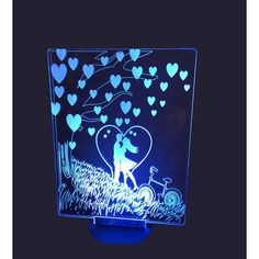 Acrylic lamp Couple in love Couples In Love, Led Lamp, Plexus Products, Glass, Drinkware, Corning Glass, Yuri, Tumbler, Mirrors