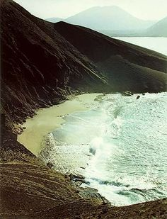 Eliot Porter.Surf on Beach, Bartholome Island, Galapagos Islands, March 1966