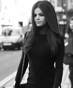 Selena black and white