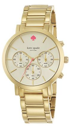 Gold shiny watch
