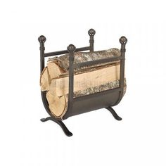 Sling Wood Holder with Fireplace Tools WoodlandDirectcom