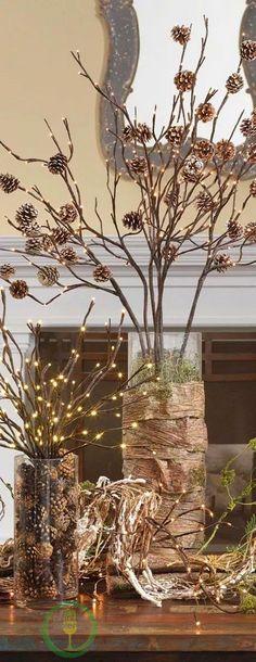 ramas secas decoradas - Buscar con Google