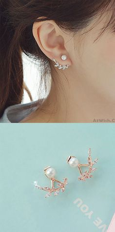 MIXIA Bohemia Vintage Leaf Post Stud Earrings Party Climbers Crawler Ear Studs Gothic Feather Long Tassel Earring