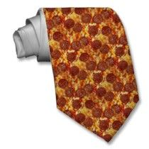 Pepperoni Pizza Tie by flutterbi