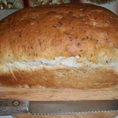 I got this recipe in a bread book for bread machines. I have used it for several years now. You can also use it without a bread machine.  I have posted a picture of the correct pan to use when making this bread in order to brown properly.
