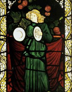 Stained glass window in the conservatory. (Chapter 3)