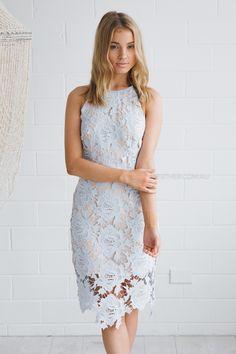 keepsake true love dress - pastel blue |