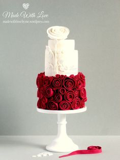 Snow White and Rose Red Cake   by ~Made With Love~