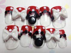 Red Dotto and Ribbon Kitty Nails | MiCHi MALL