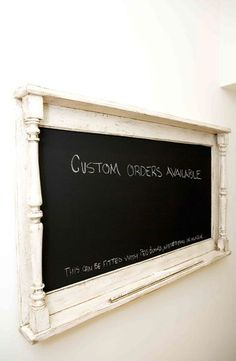 how to make a chalkboard out of a picture frame