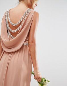 Image 3 ofTFNC WEDDING Drape Back Maxi Dress
