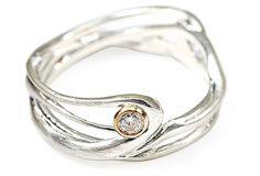 Seagrass Silver w/ Diamond Ring