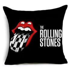 Comwarm Traditional Blues Rock Band The Rolling Stones Pattern Polyster Cushion for Sofa Car Chair Throw Pillows Home Decor Art