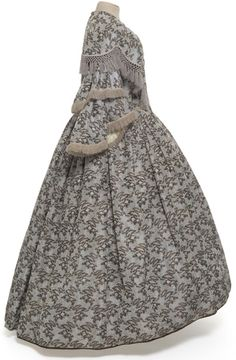 Day dress ca. 1855  From theMUSÉE GALLIERA